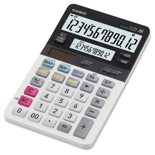 Casio JV-220 Dual Display Compact Desktop Calculator