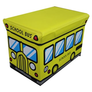 Children's Large Yellow Folding Storage Ottoman