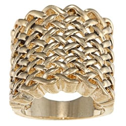 City Style Antique Gold Large Woven Band