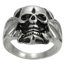 Vance Co. Stainless Steel Men's Skull Fashion Ring