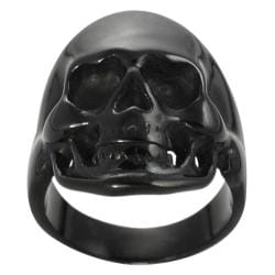 Vance Co. Black Stainless Steel Men's Skull Ring