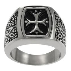 Vance Co. Stainless Steel Men's Vintage-style Pattee Cross Ring