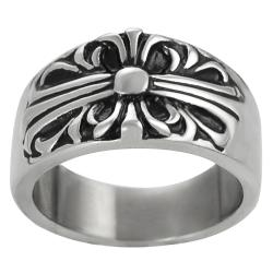 Vance Co. Stainless Steel Men's Vintage Filigree Ring