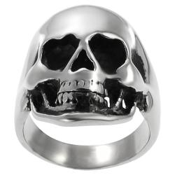 Vance Co. Stainless Steel Men's Large Skull Ring