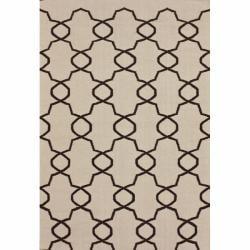 nuLOOM Handmade Flatweave Marrakesh Trellis Natural Wool Rug (5' x 8')