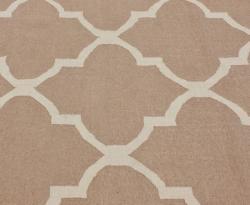 nuLOOM Handmade Flatweave Moroccan Trellis Beige Wool Rug (7'6 x 9'6)