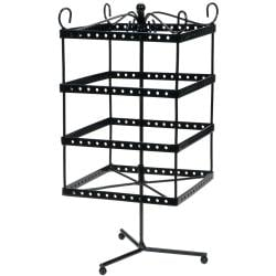 Black Metal Jewelry Display Shelf 6