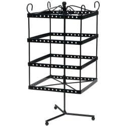 Black Metal Jewelry Display Shelf 6