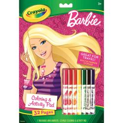 Coloring & Activity Pad With Markers-Barbie