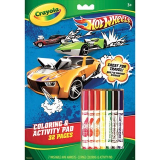 Coloring & Activity Pad With Markers-Hot Wheels