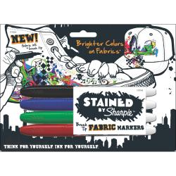 Stained By Sharpie Fabric Markers 4/Pkg