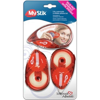 Mystick Permanent Adhesive Value Pack-1 Dispenser, 2 Refills