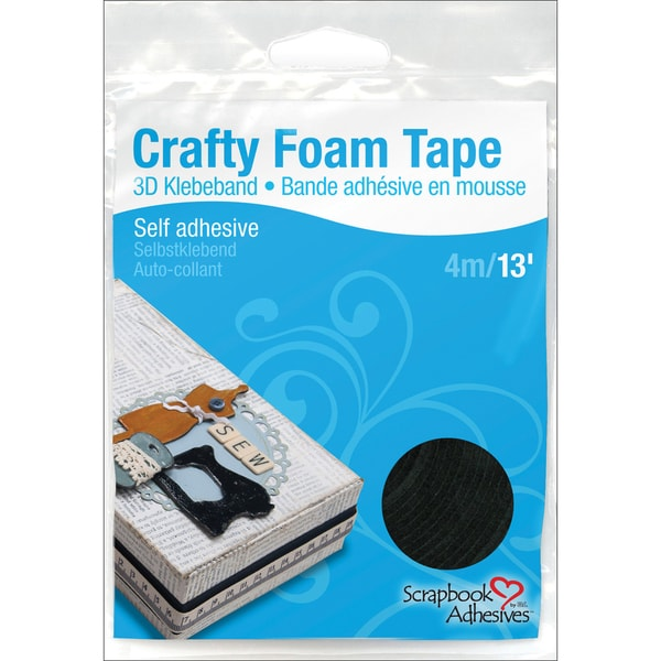 "Foam Tape 3/8"" X 13' Roll-Black"