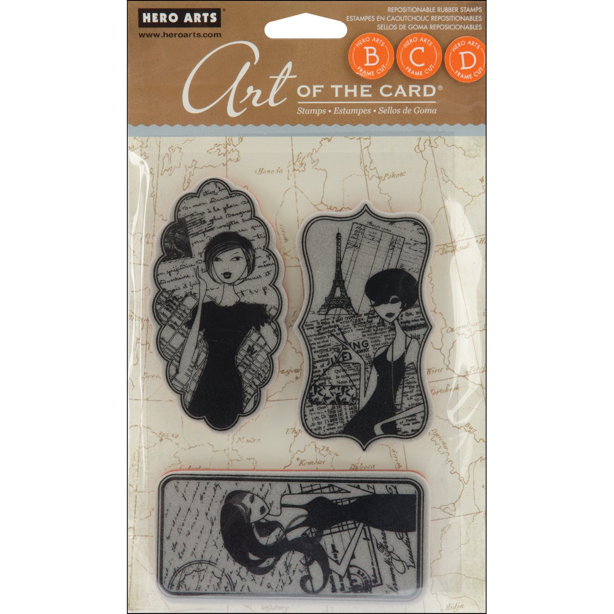 Hero Arts Cling Stamps-Enchante