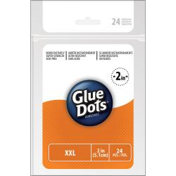 Extra-extra-large Double-sided Adhesive Glue Dots (24 Per Sheet)