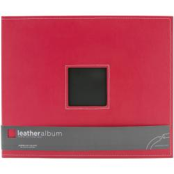 "Leather D-Ring Album 12""X12""-Cardinal"