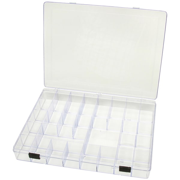 "Plastic Storage Box 11-3/4""X8-3/4""X1-1/2"" 35 Compartment-"