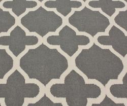 nuLOOM Handmade Flat-weave Moroccan Contemporary Trellis Gray Wool Rug (7'6 x 9'6)