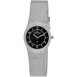 Skagen Women's Oval Glitz Stainless Steel Watch