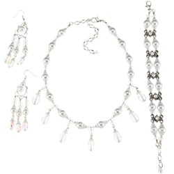 Clear Crystal Wedding Jewelry Set