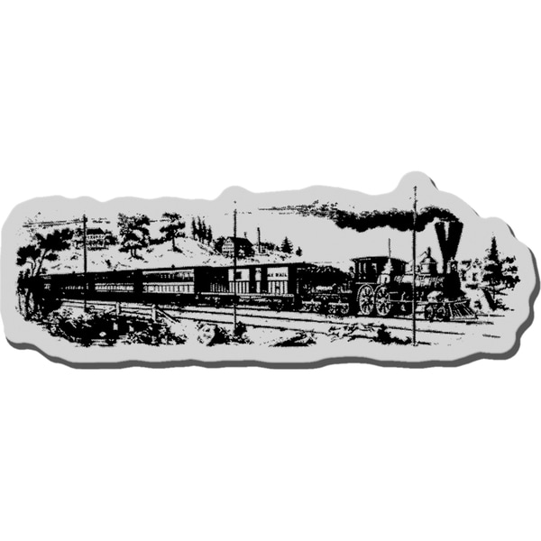 Stampendous Cling Rubber Stamp-Locomotive