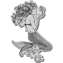Stampendous Cling Rubber Detailed 'Mermaid with Seahorse' Stamp