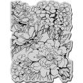 Stampendous Cling Rubber Stamp-Garden Background