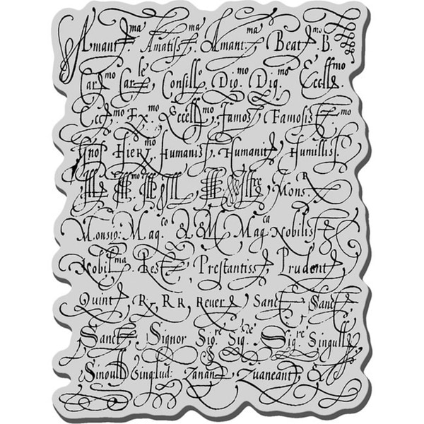 Stampendous Cling Rubber Stamp-Calligraphy Sampler