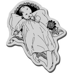 Stampendous Cling Rubber Stamp-Christening
