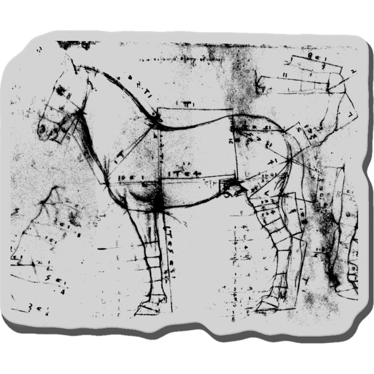 Stampendous Cling Rubber Stamp-Da Vinci Horse