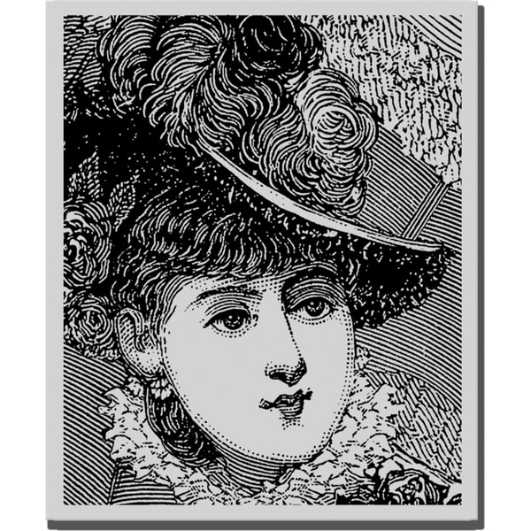Stampendous Cling Rubber Stamp-Plume Portrait