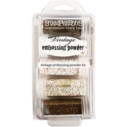 Stampendous Five-color Vintage-inspired Enamel Embossing Kit