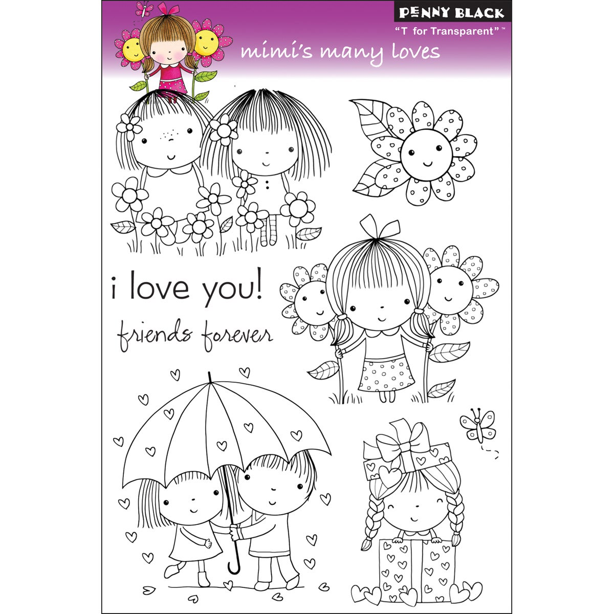 Penny Black Clear Stamps -Mimi's Many Loves