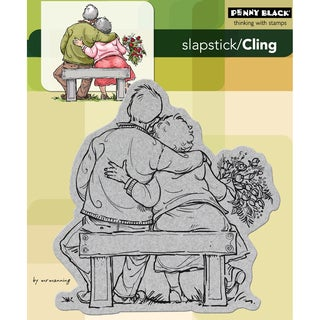 Tom and Tilly Penny Black Slapstick Cling Red-rubber Stamp