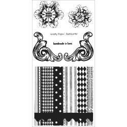 Studio 490 Cling Rubber Stamp Set-Accents For Art