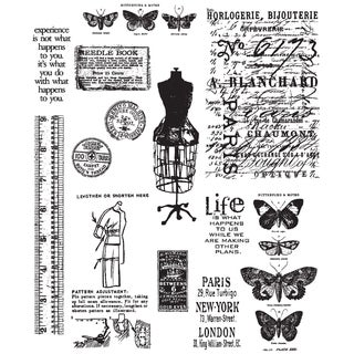 Tim Holtz Large Cling Rubber Stamp Set-Attic Treasures
