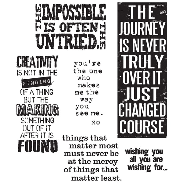 Tim Holtz Cling Rubber Stamp Set-Words For Thought