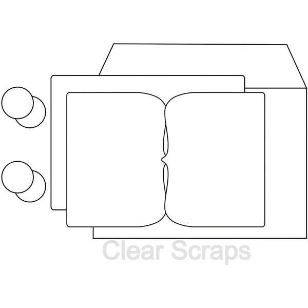 """Send It Clear 4""""X6"""" Card and Envelope-Deco"""