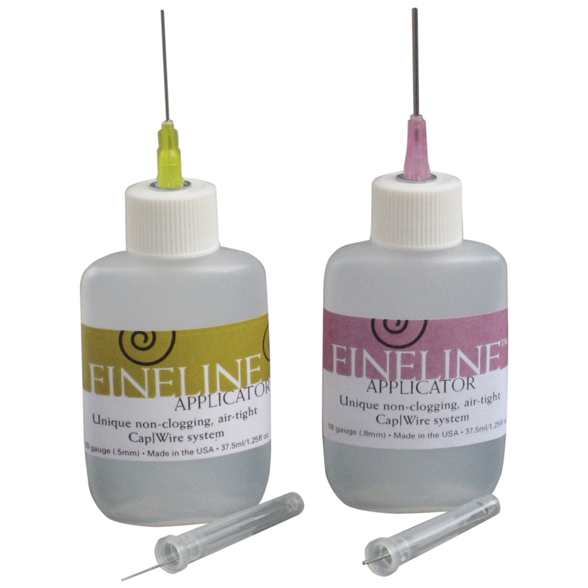 20 Gauge Fineline Applicator 2/Pkg-1.25oz Refillable Bottle