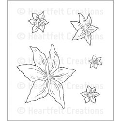 Heartfelt Creations Cling Rubber Stamp Set -Pristine Lilies