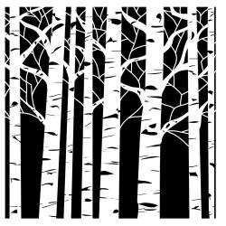"Crafter's Workshop Templates 12""X12""-Aspen Trees"