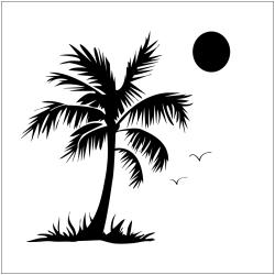 "Crafter's Workshop Templates 12""X12""-Palm Tree"