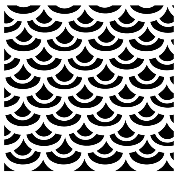 "Crafter's Workshop Templates 6""X6""-Fish Scales"
