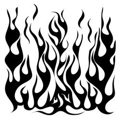 "Crafter's Workshop Templates 6""X6""-Flames"