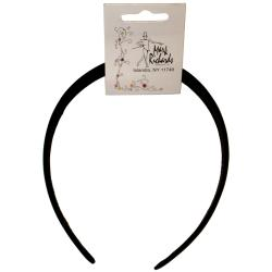 Satin Headband 1/Pkg-Black
