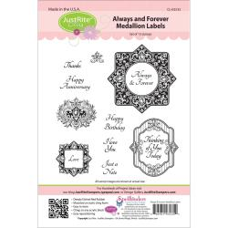 JustRite Stampers Cling Stamp Set-Always and Forever 13pc