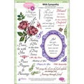 JustRite Stampers Clear Stamp Set-With Sympathy 23pc