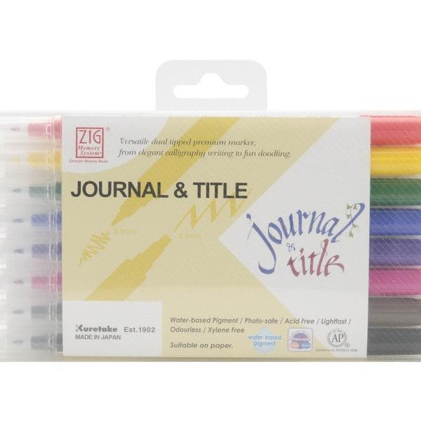 Zig Memory System Journal & Title 8 Color Marker Set