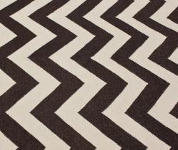 nuLOOM Handmade Flatweave Chevron Brown Wool Rug (5' x 8')