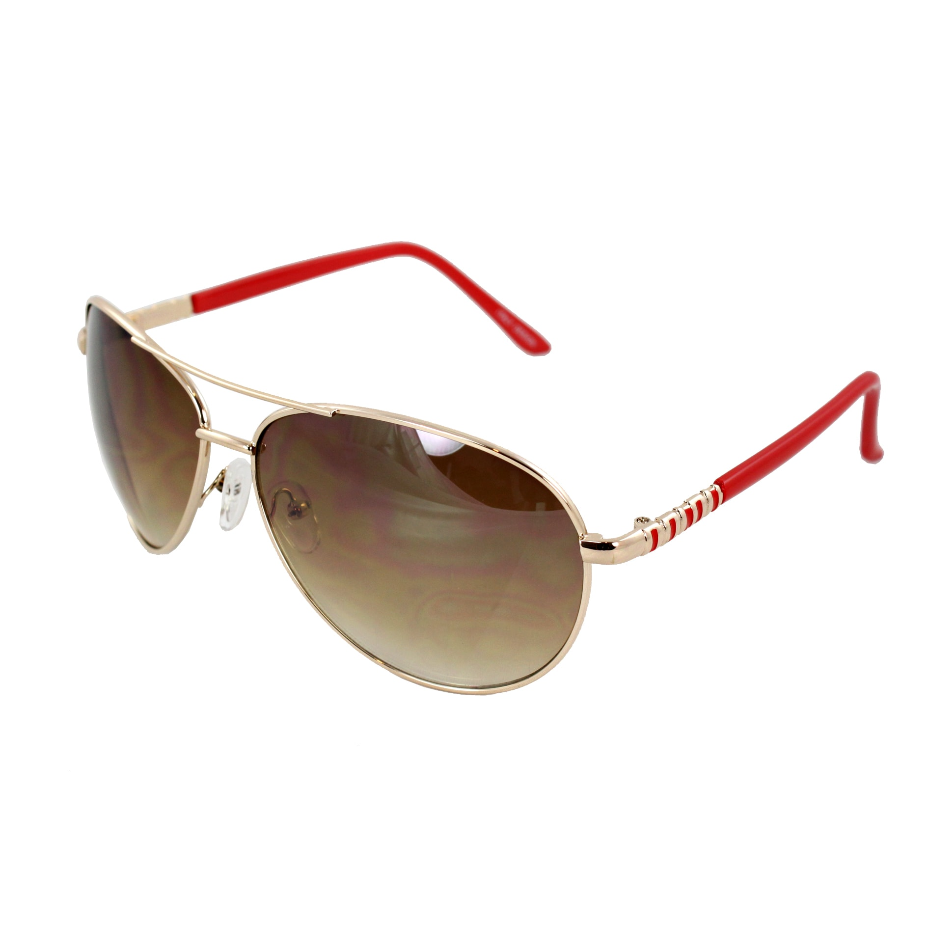Red Lens Gold Frame Sunglasses : Pilot Fashion Aviator Sunglasses Gold and Red Frame Amber ...